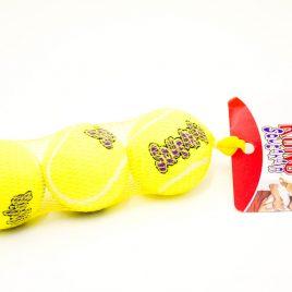 Vinkuvia Kong-tennispalloja heittokauhalle, 3 kpl